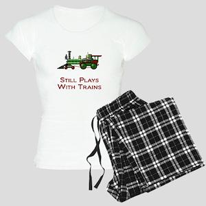 Still Plays With Trains Women's Light Pajamas