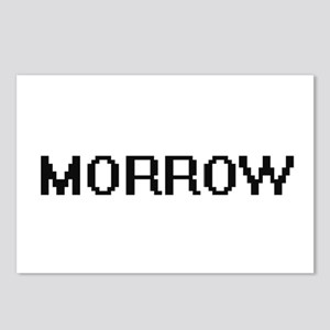 Morrow digital retro desi Postcards (Package of 8)