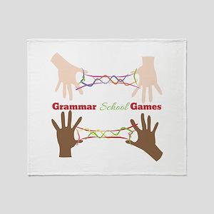 Grammar School Games Throw Blanket