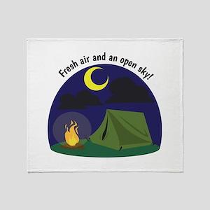 Fresh Air & An Open Sky! Throw Blanket