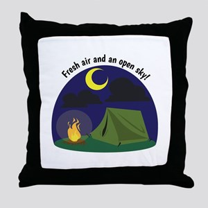 Fresh Air & An Open Sky! Throw Pillow