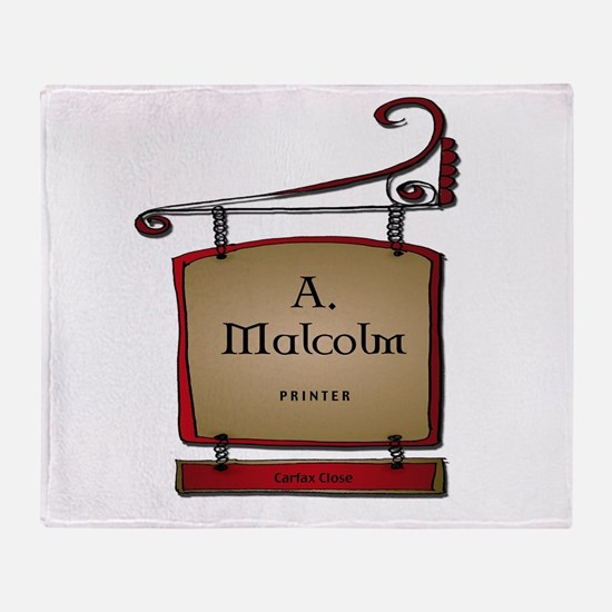 Jamie A. Malcolm Printer Throw Blanket