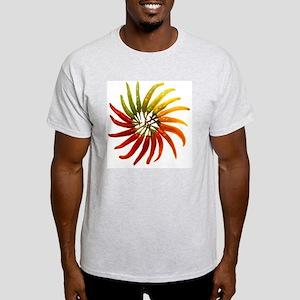Charleston Hot Peppers Color Wheel Light T-Shirt
