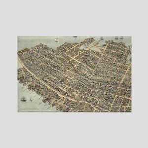 Vintage Pictorial Map of Charlest Rectangle Magnet