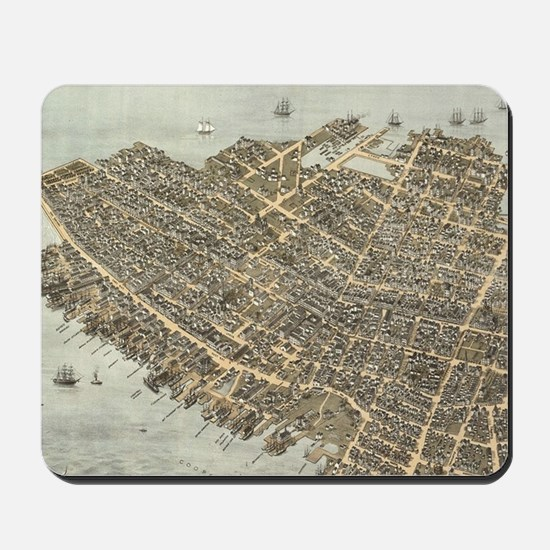 Vintage Pictorial Map of Charleston (187 Mousepad