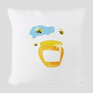 Honey Pot Woven Throw Pillow