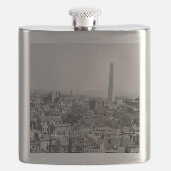 Vintage Photograph of Charlestown Massachuse Flask