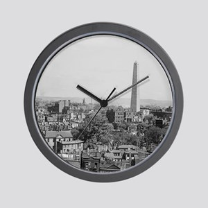 Vintage Photograph of Charlestown Massa Wall Clock
