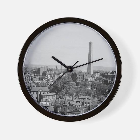 Vintage Photograph of Charlestown Massa Wall Clock