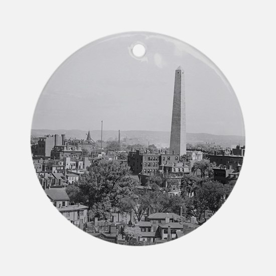 Vintage Photograph of Charlestown M Round Ornament