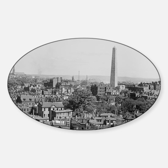 Vintage Photograph of Charlestown M Sticker (Oval)