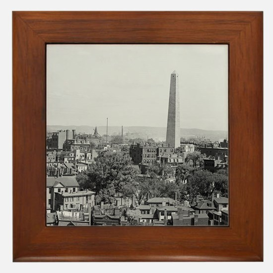 Vintage Photograph of Charlestown Mass Framed Tile