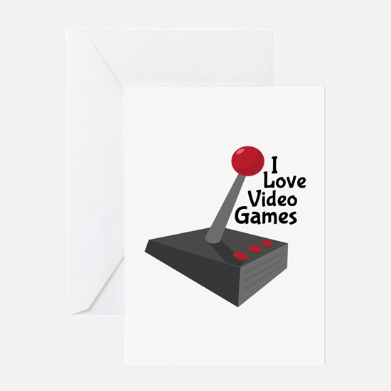 Video Game Joystick Greeting Cards