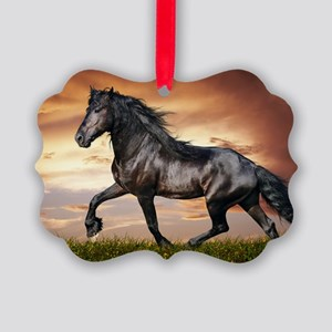 Beautiful Black Horse Ornament