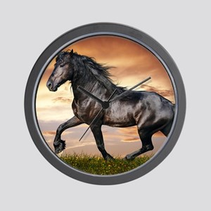 Beautiful Black Horse Wall Clock