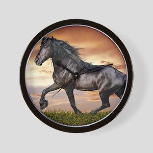 Beautiful Black Horse Wall Clock