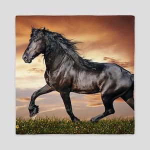 Beautiful Black Horse Queen Duvet