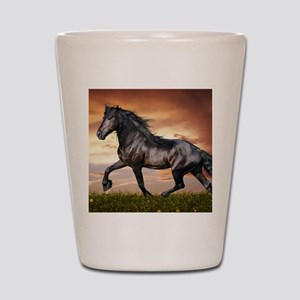 Beautiful Black Horse Shot Glass