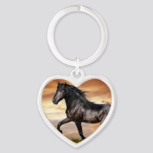Beautiful Black Horse Keychains