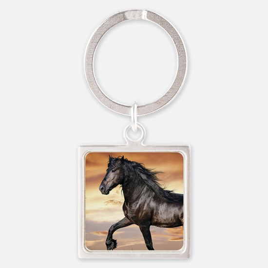 Beautiful Black Horse Keychains