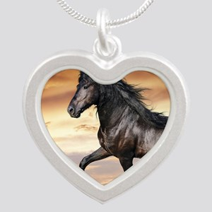 Beautiful Black Horse Necklaces