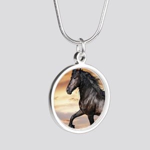Beautiful Black Horse Necklaces