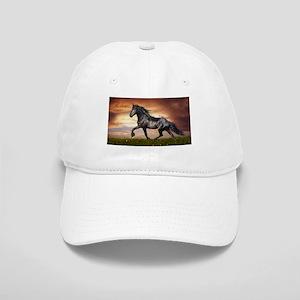 Beautiful Black Horse Baseball Cap