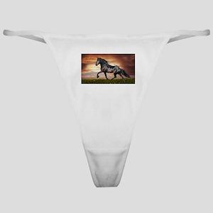 Beautiful Black Horse Classic Thong