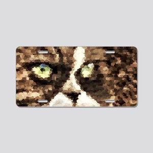 Painted angry looking persi Aluminum License Plate