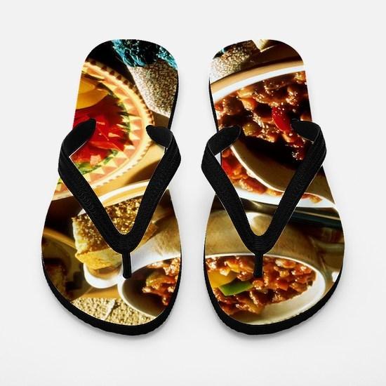 Chili with Cornbread Flip Flops