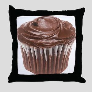 Chocolate Cupcake Throw Pillow
