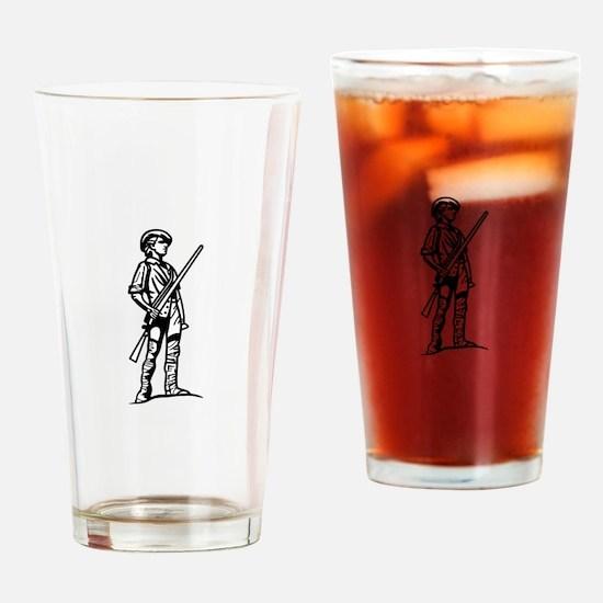 Minuteman Outline Drinking Glass