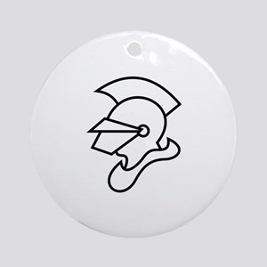 Knight Outline Ornament (Round)
