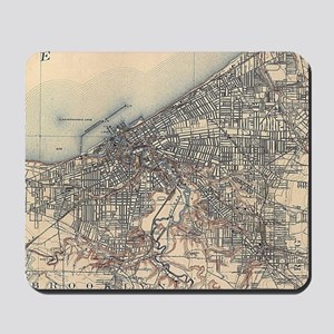 Vintage Map of Cleveland (1904) Mousepad