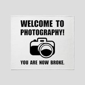 Photography Broke Throw Blanket