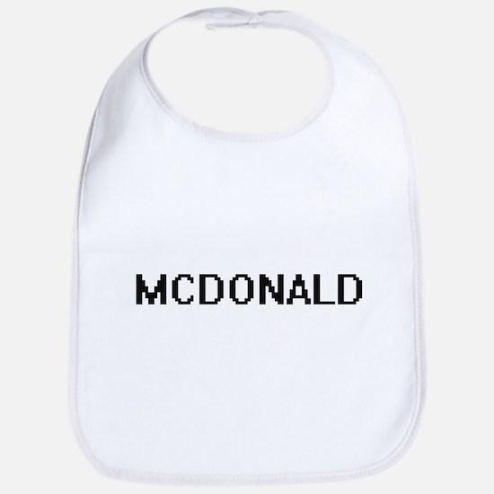 Mcdonald digital retro design Bib