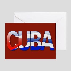 """Cuba Bubble Letters"" Greeting Card"