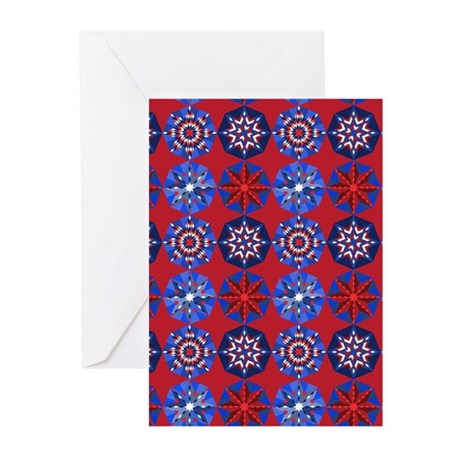 Red White & Blue Greeting Cards (Pk of 10) by DDBaz