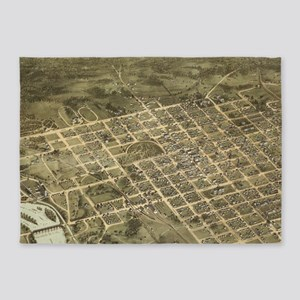 Vintage Pictorial Map of Columbia S 5'x7'Area Rug