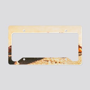 Crab on The Beach Photograph License Plate Holder