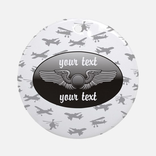 Personalized Aviation Ornament (Round)