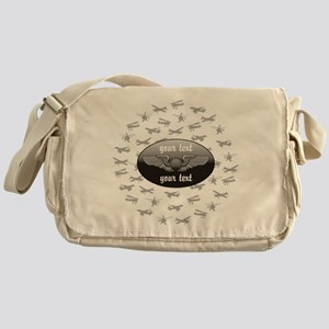 Personalized Aviation Messenger Bag