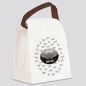 Personalized Aviation Canvas Lunch Bag