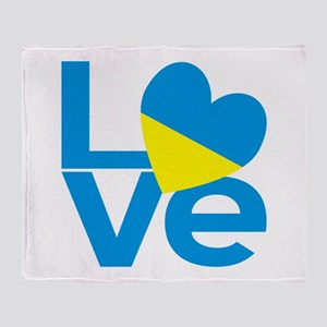 Ukrainian LOVE Throw Blanket