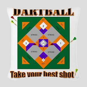 Dartball Board Woven Throw Pillow
