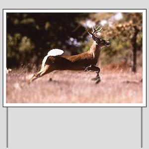 White-Tail Deer Running  Yard Sign