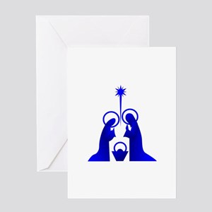 Nativity Silhouette Greeting Cards