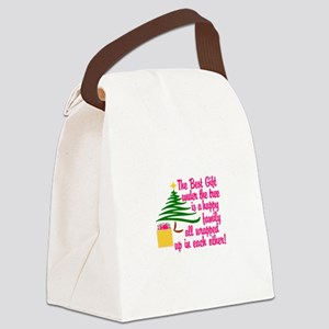 The Best Gift Canvas Lunch Bag