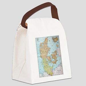 Vintage Map of Denmark (1905)  Canvas Lunch Bag