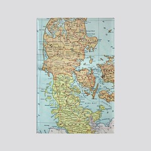 Vintage Map of Denmark (1905)  Rectangle Magnet